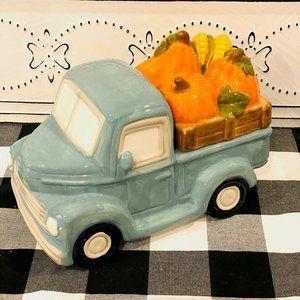 Blue Truck Harvest Cookie Jar